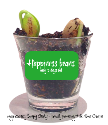 Happiness beans with crane magic beans