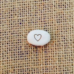 love heart message bean