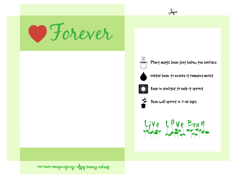 Magic Bean Love Forever Printable
