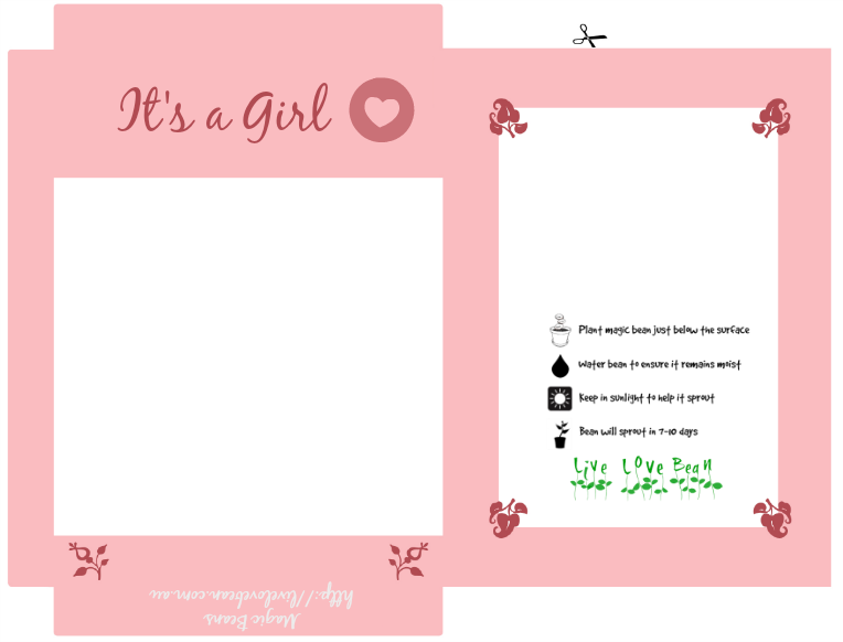 Magic Bean Printable - Its a girl