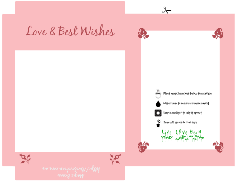 Magic Bean Printable - Love and Best Wishes